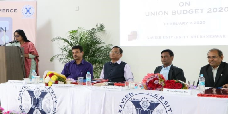 A discussion on Union Budget – 2020 at School of Commerce
